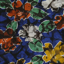 Japanese vintage kimono silk fabric Vibrant Blossom