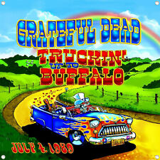 New listing Grateful Dead Truckin' up to Buffalo Poster Tapestry Flag Banner Huge Us Shipper