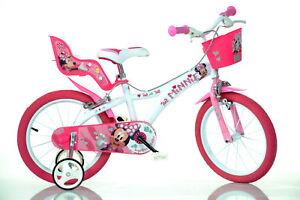 16 Zoll Kinderfahrrad Minnie Maus Original Lizenz Kinderrad Fahrrad Mouse