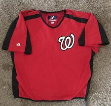 Men's Majestic Washington Nationals Large Red Short Sleeve Pullover