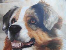 "Master Painting Acrylic Canvas Australian Shepherd Dog 20""x24"" Realism Portrait"