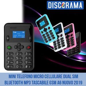 MINI TELEFONO MICRO CELLULARE DUAL SIM BLUETOOTH MP3 TASCABILE GSM A6 NUOVO 2019