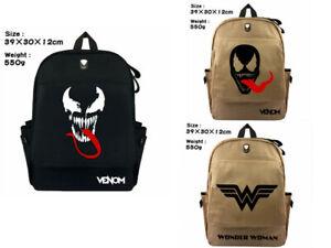 Comics Venom Schoolbag Backpack Canvas Travel Laptop Knapsack Satchel Gift A1