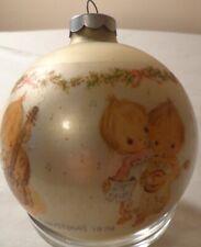 Hallmark Betsey Clark Christmas Ornament 1974 Round Glass Ball Musical Conductor