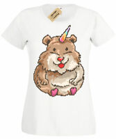 Hamster Unicorn Womens T-Shirt Ladies top