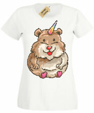 Hamster Unicorn Womens T-Shirt Ladies top