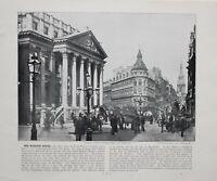 1896 London Aufdruck Mit Beschreibende Text Mansion House Queen Victoria Strasse