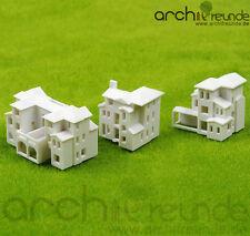 3 x Model Building Villa Apartment House 1:800 : Type A+ Type B+ Type C