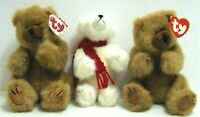 Vintage Collectable TY & Boyd Bears Plush Moveable Arms & Legs 8 & 8.5 Set Of 3