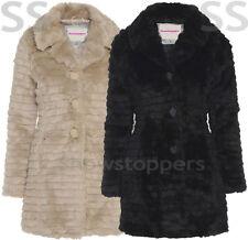 Button Faux Fur Coats & Jackets for Women