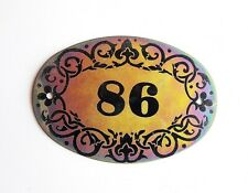 Soviet vintage tin apt door number plate 86 retro address plaque USSR