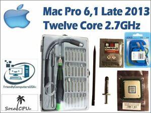 TWELVE CORE 2.7GHz Xeon Processor Apple Mac Pro 6,1 Late 2013 E5-2697v2 12 KIT