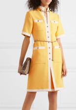 48IT-Gucci Grosgrain-trimmed wool & silk-blend dress Dress- With Tags- RRP$4,900