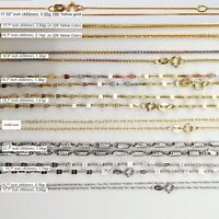 18ct gold chain made in Italy Real 18K gold, white gold, rose/ yellow Gold Chain