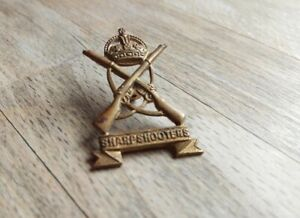 Sharpshooters Badge - small size, one square lug, British Army