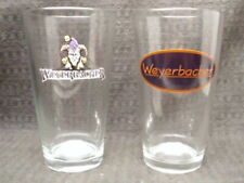 New listing Pair Weyerbacher Retiered Jester W/ Etched Bottom & Oval Logo Beer Pint Glasses