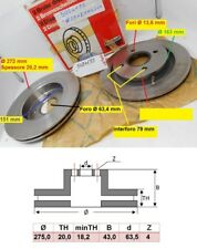 Sierra RS Cosworth Brake Discs Rear Brake Depot C Hook Slotted Discs