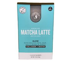 Jade Leaf Premium Matcha Latte Infusions Glow Collagen + Biotin New 7 packet box