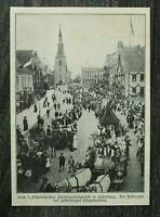 AJ) Blatt 1907 1. Ostpreussen Provinzial Sängerfest Insterburg Festwagen Straße