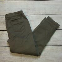 Style&Co Cargo Cropped Pants Size 6 Womens Stretch Capri Gray Green
