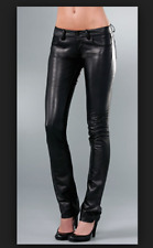 PAIGE BLACK LABEL HYDE PARK SKINNY buttery leather pants 8