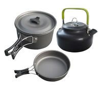 Outdoor Camping Hiking Cookware Cooking Bowl Pot Pan Picnic Cook Saucepan Set