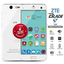 """New Unlocked ZTE Blade S7 White 5"""" IPS LCD 4G LTE Dual SIM Android Cell Phone"""