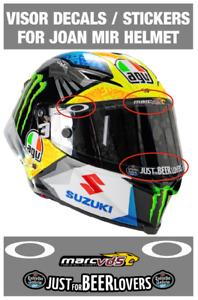 Visor Decals Stickers for Joan Mir Helmet