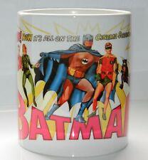 BATMAN : 1960's UK CINEMA RETRO DESIGN  ARTWORK. TOP QUALITY 11oz MUG