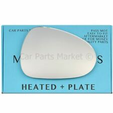 Right Driver side Flat Wing mirror glass for Seat Ibiza 2008-2017 heated +plate
