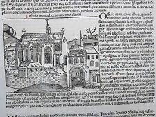 Incunable Leaf Schedel Liber Chronicorum Order Monte Oliveto Maggiore - 1493