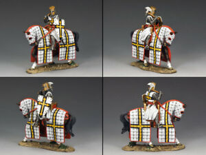KING & COUNTRY MEDIEVAL KNIGHTS & SARACENS MK106 MOUNTED TEUTONIC KNIGHT MIB