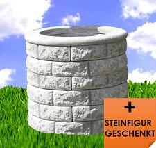 Brunnenschacht Brunnen Steinbrunnen Brunnenring SET 6+1 BLACKFORM