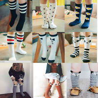 Baby Kids Toddlers Girls Mid-knee Hig Socks Tights Leg Warmer Stockings Age 0-6
