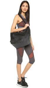 Adidas by Stella McCartney Lg Shoulder Hobo Gym RTD Shoe Bag Black Grey $150