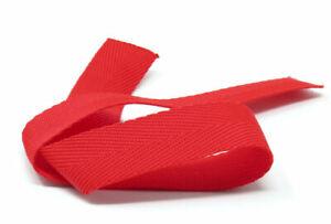 20mm Herringbone Red Webbing | Bunting | Apron Tape | Edging Trim, 100m roll