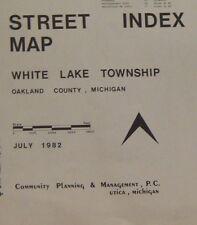1982 Street Map of White Lake Township Oakland County Michigan