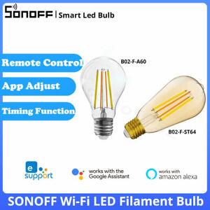 SONOFF B02-F E27 Smart Wi-Fi LED Filament Light Bulb Dimmable Lamp Voice Control