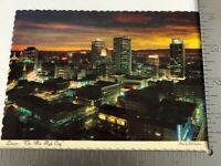 Vintage Postcard Denver Colorado Street Scene The Mile High City Rocky Mountains