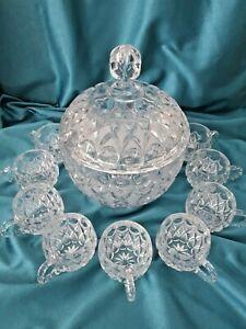 Nachtmann Bleikristall Bowle Set Anglia-Sinfonie mit 12 Gläsern RAR