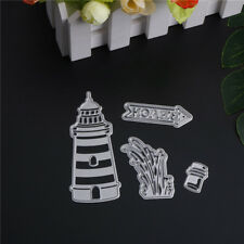 4pcs lighthouse beach Metal Cutting Dies Stencil Scrapbooking Photo Album Decor_
