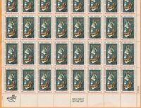 Scott #1386 William M. Harnett postage Stamp Sheet of 32-6 cent FV $1.92