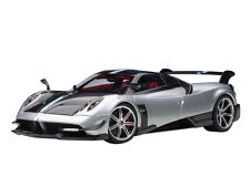 PAGANI HUAYRA BC SILVER & CARBON W/RED INTERIOR 1/18 MODEL CAR BY AUTOART 78278