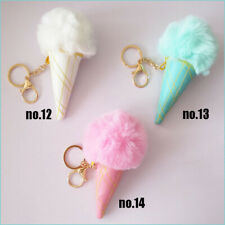 10 Blessing Women Girl Fashion Sleep Doll Key Chain Rex Rabbit Floss Ice Cream