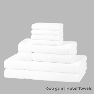 Luxury 8 Pcs Towels Bale Set   600 GSM Hotel Quality Towels Thick Soft Absorbent