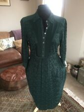 Vintage Ghost Emerald Green Tea Maxi Dress