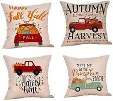 "Pumpkin Fall Autumn Pillow Cover Home Decor 18"" U CHOOSE ~ USA SELLER"