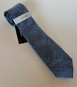 "Alfani Men's Necktie in Hudson Abstract Blue 2.75"" Width Retail $55 New"