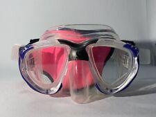 Scubapro Scout Snorkel Scuba Diving Mask Black / Blue w/ Case - Lightly Used