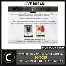 2020/21 TOPPS UEFA CHAMPIONS MUSEUM 12 коробка футляр разрыва #S147 — выбирайте свою команду
